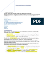 Comparison of Enterprise Architecture Methodoligies