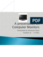 A Presentation on Computer Monitors