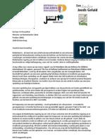 Brief Uri Rosenthal Palestijnse Kinderen April 2012 (1)
