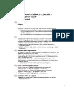 Function of Sentence Elements - Subject, DO, IO
