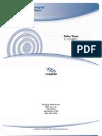 SI Team Behavioral Report