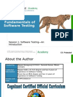 Session 1 Software Testing an Introduction V1
