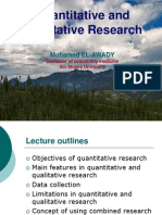 Quantitative Research Read
