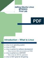 Installing Ubuntu Linux