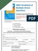 MCQ Handbook Order Form