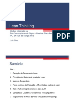 Lean Thinking Module 2012