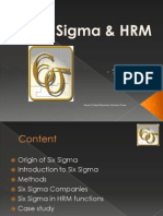 Six Sigma & Human Resources