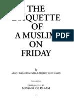 En Ettiquettes of a Muslim on Friday