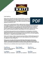 Republican Endorsement Letter of Jesse White