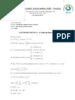 Introdução à Álgebra Linear e Vetorial - 1ª Lista de Exercícios