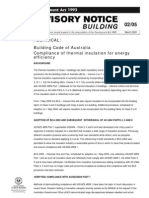 Building Advisory Notice Compliance of Thermal Insulation for Energy Efficiency