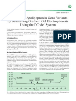 Detection of Apol Ipo Protein Gene Variants DGGE
