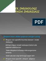 Aspek Imunologi Daripada Imunisasi