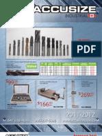 AccusizeTools Catalog 2011 2012