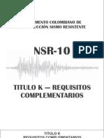NSR-10 - Titulo K