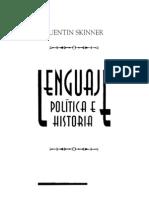 Skinner, Quentin. Lenguaje, política e historia libro completo