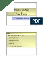 Módulos de Datos y Tipos de Datos