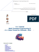 C++ Tutorial_ Multi-Threaded Programming - C++ Class Thread for Pthreads - 2012