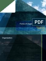 Forms of Organization Structure (Manmeet Kaur)