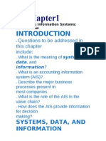 HAPTER1 Accounting Information Systems