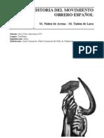 Historia del movimiento obrero español Tuñon de Lara