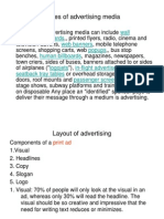 Layout of Advertising
