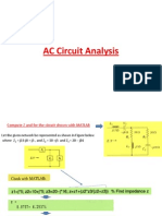 AC Analysis by MATLAB