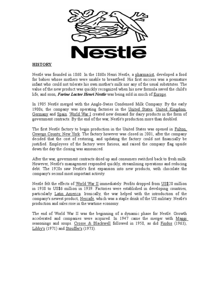 History   Samsung   Nestlé
