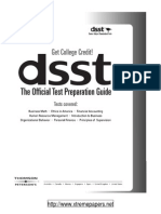 DSST-The Official Test Preparation Guide
