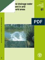 Manejo de Agua de Drenaje Agricola en Areas Aridas y Semi Aridas - FAO