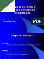 Principii de sterilizare în patologia chirurgicală oftalmologică