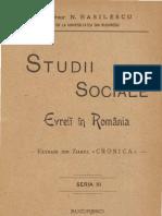 N. Basilescu - Studii Sociale Evreii in Romania - 1903