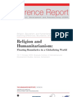 Humanitarianism and Religion