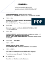 PROGRAMA Segundas Jornadas ASSSEM y LigaSFC