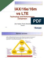 WiMAX vs LTE Technical Comparison