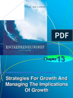 Chapter 13 Strategies for Growth and Managing the Implication of Growth