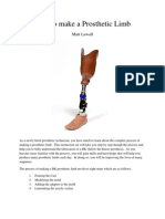 How to Make a Prosthetic Limb[1]