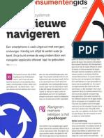 Het nieuwe navigeren - Test autonavigatie - Consumentengids Mei 2012
