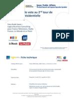 Intentions de vote Présidentielle 2012 - 22/04/2012