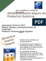 Almacenamiento Seguro de Productos Químicos