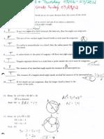 Geometry Circles Test 1