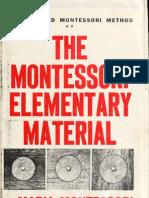 The Montessori Elementary Material_1917