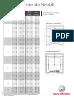 dimensionamento elevador neolift