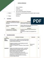 SESIÓN DE APRENDIZAJE- 3º grado primaria