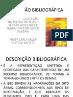 DESCRIÇÃO BIBLIOGRÁFICA