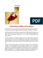 Características bíblicas de las danzas
