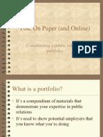 PR Portfolio Examples