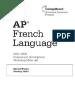 AP Sf French Lang Reading Skills