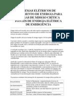 ENERGIA PARA CARGAS DE MISSÃO CRÍTICA