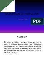 TECNOLOGIAS DE PRODUCCION